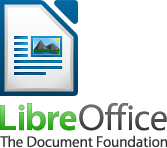 Logotipo de LibreOffice con icono de Writer