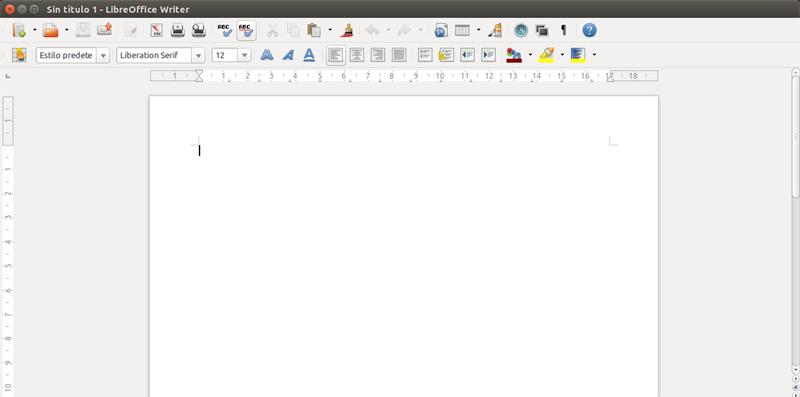Nuevo documento de Writer
