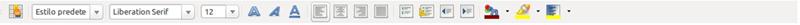 Imagen de la barra de herramientas de formato