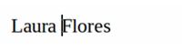 Nombre escrito en un documento de Writer