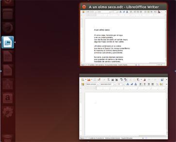 Escritorio con dos documentos abiertos