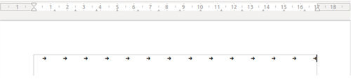 Tabulaciones en un documento de Writer