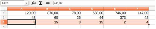 Celdas con cifras sin decimales