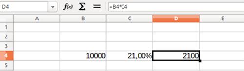 Cálculo de porcentaje