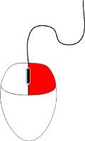 Ratón con el botón derecho marcado en rojo