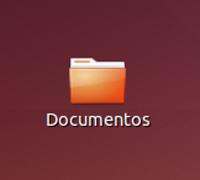 Icono de una carpeta en el escritorio de Ubuntu