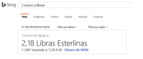 Convertidor de unidades de Bing
