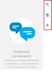 Botones de Skype