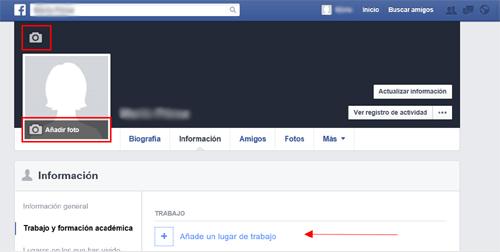 Edición de la foto de perfil y portada en Facebook