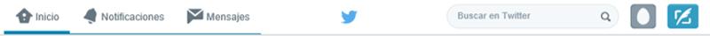 Barra superior de Twitter
