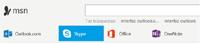 Botón Skype en el portal MSN