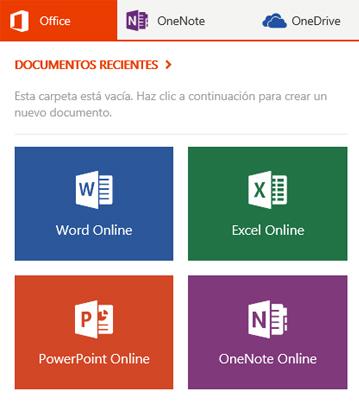 Botón Office en la barra de aplicaciones de MSN