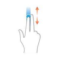Deslizar horizontalmente el dedo sobre la pantalla