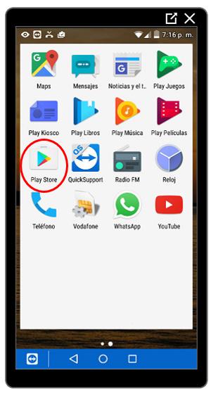 Aplicación Google Play