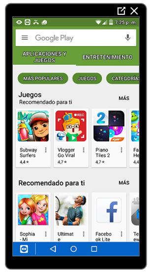 Página de inicio de Google Play