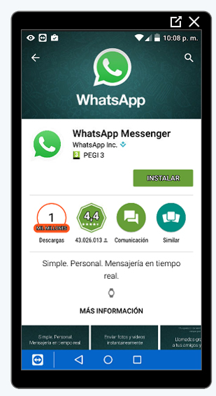 Ficha de Whatsapp