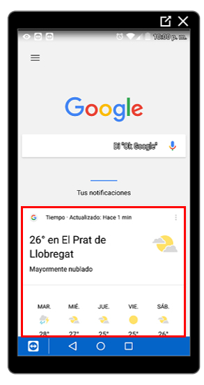Google Now activado