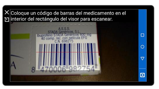 Captura de un código de barras